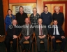 Members from Dunloy Executive Club Committee pictured with Michael Hasson, Ulster GAA President