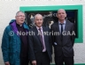 Pictured is Fr Blaney, Michael Hasson, Ulster GAA President and Dunloy Club Chairman Billy Eliott